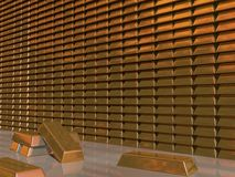 Gold bars in Vault Stock Images