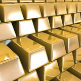 Gold Bars. Vector background Stock Photo