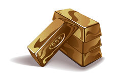 Gold bars vector illustration Stock Photos