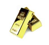 Gold bars. On white background Stock Image