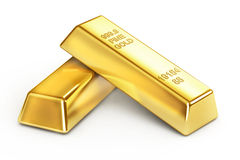 Gold Bars. On white background Stock Image