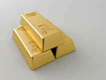 Gold bars. On a white background Royalty Free Stock Image