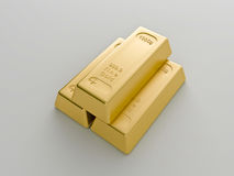 Gold bars. On a white background Stock Image