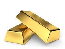 Gold bars. Stock Photos