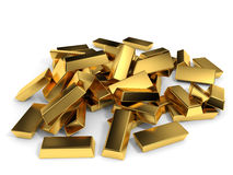 Gold bars. Stock Photography