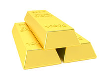 Gold bars  on white background Royalty Free Stock Image