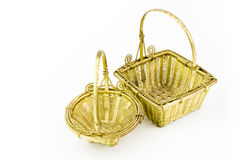 Gold Basket Stock Photography