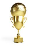 Gold basketball ball cup Royalty Free Stock Photos
