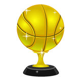 Gold Basketball Trophy Royalty Free Stock Image