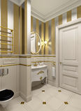 Gold bathroom Royalty Free Stock Photo