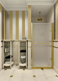 Gold bathroom Royalty Free Stock Photography
