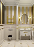 Gold bathroom Stock Photography