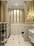 Gold bathroom Royalty Free Stock Photo