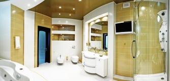 Gold bathroom Stock Photo
