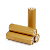 Gold batteries Royalty Free Stock Photos