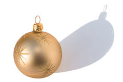 Gold bauble Royalty Free Stock Images