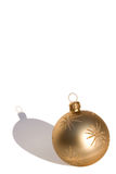 Gold bauble Stock Photo