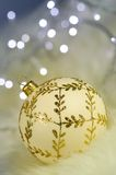 Gold Bauble Decoration Stock Images