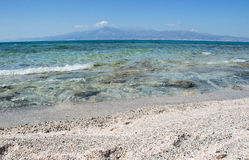 Gold beach. Gold beach on Chrisi island,  Crete, Greece Royalty Free Stock Images