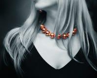 Gold beads Stock Photo