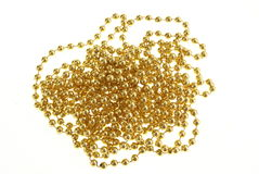 Gold Beads Royalty Free Stock Photography