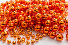 Gold beads close-up background Royalty Free Stock Image