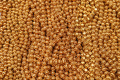 Gold Beads at the Otavalo market Stock Photography