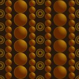 Gold beads pattern background illustrations. Concept background concept in gold colors Stock Photos