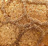 gold beads and sequins Stock Image