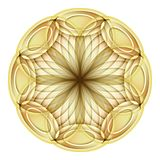 Gold Beautiful Decorative Ornate Mandala Royalty Free Stock Photography