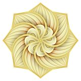 Gold Beautiful Decorative Ornate Mandala Royalty Free Stock Image