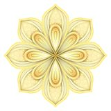 Gold Beautiful Decorative Ornate Mandala Stock Image