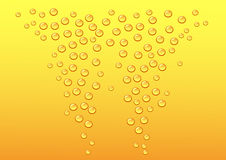 Gold beer Royalty Free Stock Images