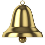 Gold bell. 3D computer illustration isolated on white background Royalty Free Stock Image