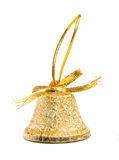 Gold bell Christmas Stock Photo