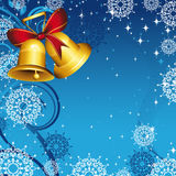 Gold Bells Christmas Card  Stock Images