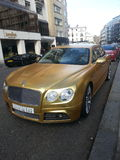 Gold Bentley Stock Photo