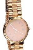 Gold überzogene Uhren Lizenzfreie Stockfotos