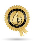 Gold best choice. Best choice vector golden badge Royalty Free Stock Photos