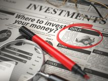 Gold is a best option to invest. Where to Invest concept, Invest royalty free stock photography