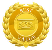 Gold Best Value Winner Laurel Wreath Medal Royalty Free Stock Photo
