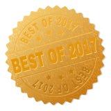 Gold-BESTES des 2017 Ausweis-Stempels lizenzfreie abbildung
