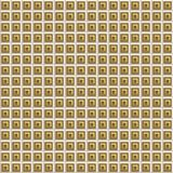 Gold Beveled Squares Seamless Stock Photo