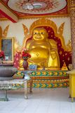 Gold big buddha statue Royalty Free Stock Image