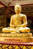 Gold big buddha statue Stock Image