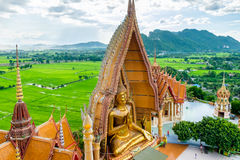 Gold big buddha statue temple wat tham sua Royalty Free Stock Image