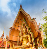 Gold big buddha statue temple wat tham sua Stock Photo