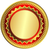 Gold big medal (vector) Royalty Free Stock Photography