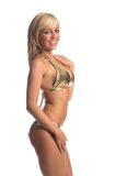Gold Bikini Blond Royalty Free Stock Photo