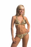 Gold Bikini Blond Royalty Free Stock Images